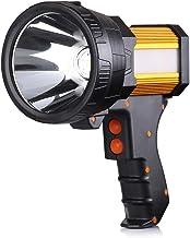 خرید چراغ قوه قابل شارژ ، چراغهای Spot دستی دارای چراغ قوه بزرگ 6000 لومن چراغ قوه دستی سبک و فوق العاده روشن چراغ قوه در فضای باز چراغ قوه در فضای باز Camping Flight searchlight