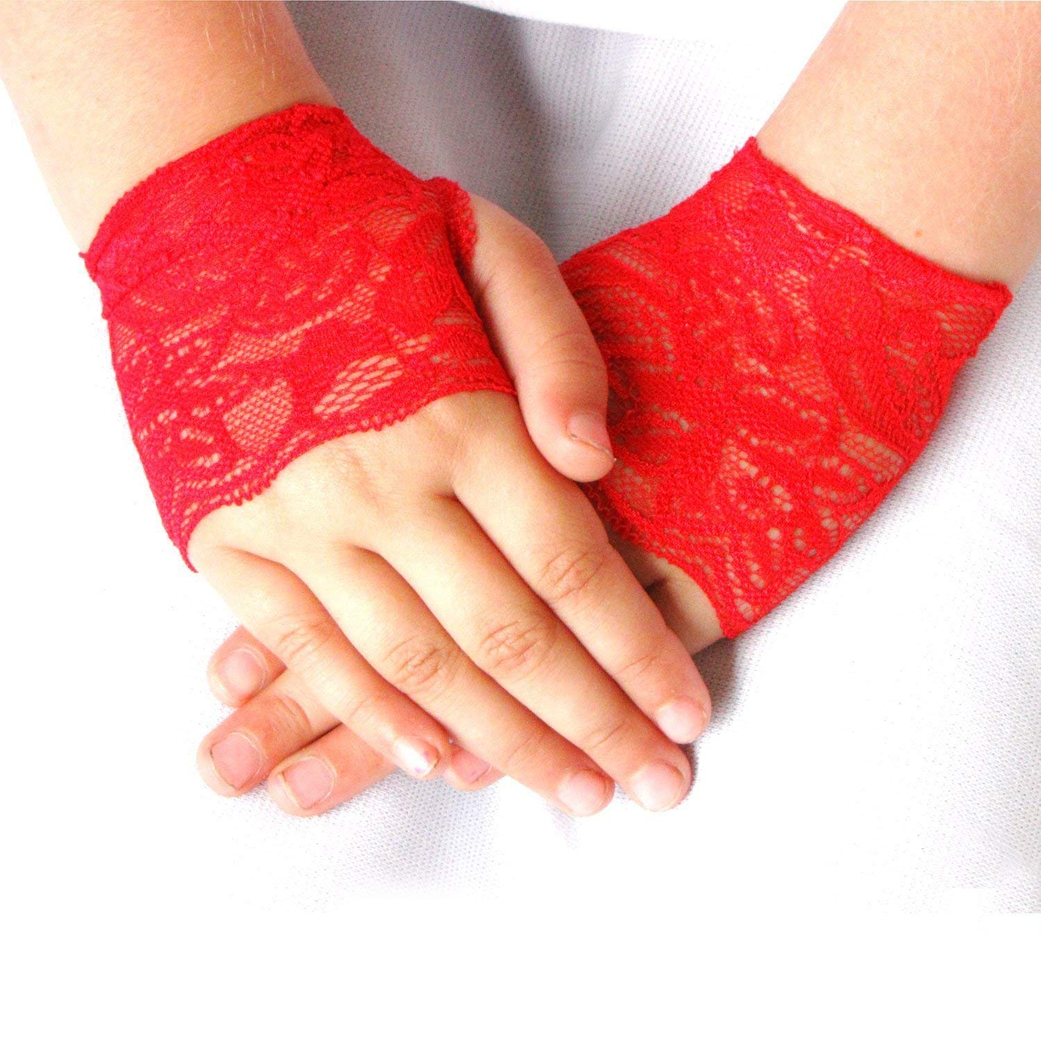 Toddler Wholesale Girls Red Lace Fingerless Gloves Max 72% OFF Valentines