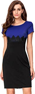 Noctflos Women's Business Bodycon Wear to Work Pencil Fitted Dress