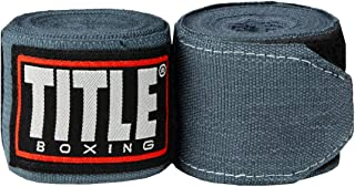 Title Boxing Fight Back Elastic Wraps, Grey, 180