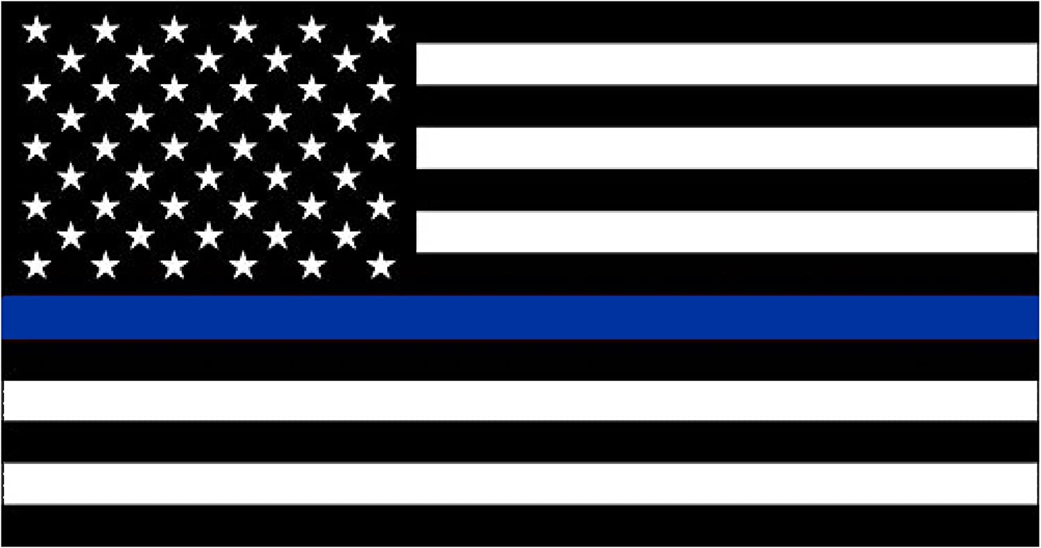 Topics on TV 100% quality warranty! Thin Blue Line Lives Matter Flag Decal for Sticker Ca Vinyl