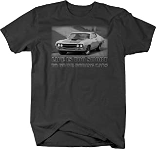 Bold Imprints Retro Life is Too Short Boring Cars Torino Muscle Car Graphic T Shirt for Men