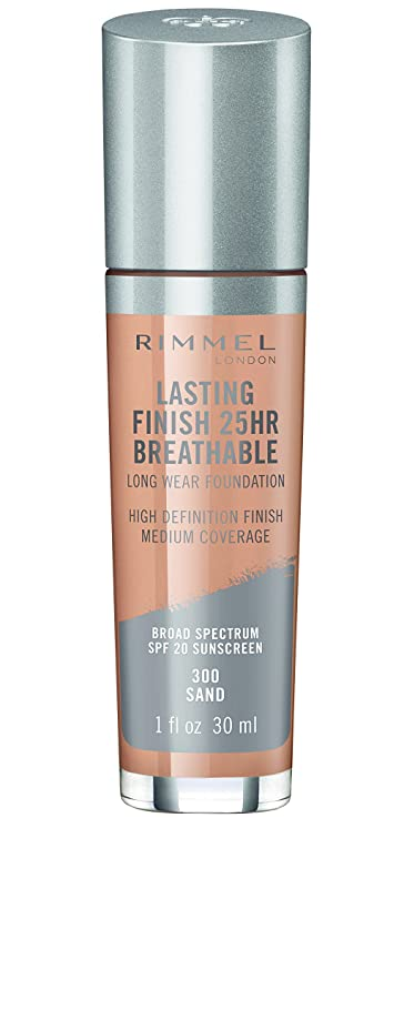 冷蔵庫珍味忍耐RIMMEL LONDON Lasting Finish 25hr Breathable Foundation - Sand (並行輸入品)