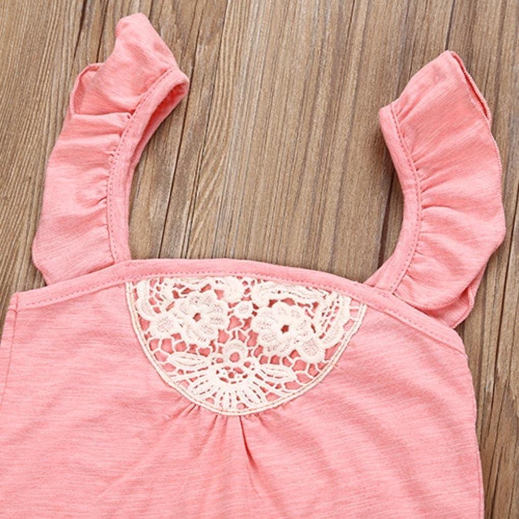 Flower Shorts 2pcs Summer Clothes Set Kehen Newborn Baby Girl Solid Sleevless Romper Tops