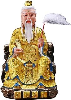 Chinese feng shui statue sculpture الأبيض الشعر نوع الرجل العجوز بوذا تمثال الحلي فنغ شوي الديكور الكلاسيكية شخصية الأسطور...