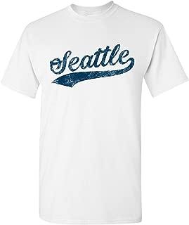 UGP Campus Apparel City Baseball Script T Shirt, Hometown Pride Tees