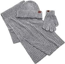 Eforstore Unisex 3 Piece Ski Warm Sets Winter Outdoor Knitting Winter Cap
