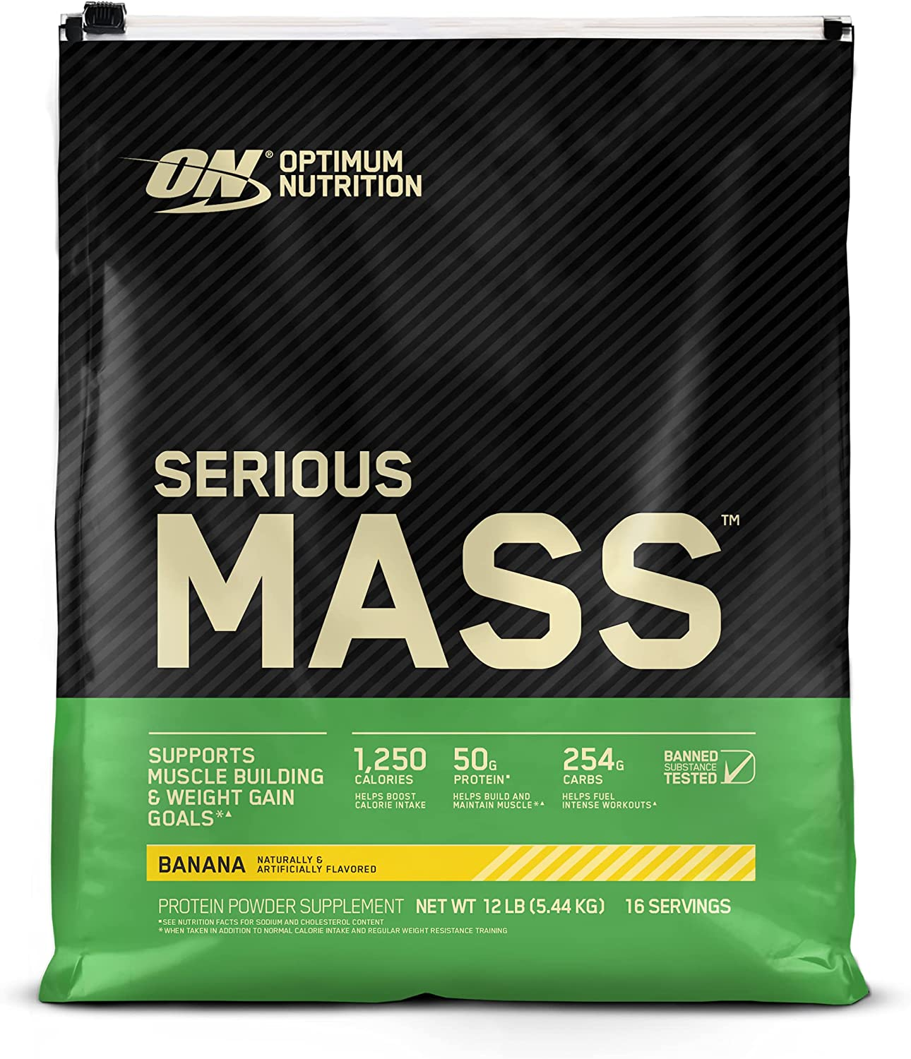 Optimum Nutrition Serious Mass Selling rankings Large discharge sale Weight Protein Vit Gainer Powder