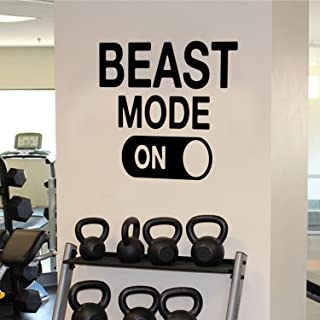 Beast Mode Motivational Gym Wall Art Decal Quote - 22