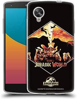 Official Jurassic World T-Rex VS. Indoraptor Vector Art Soft Gel Case Compatible for LG Nexus 5