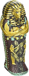 YOUNI - Egyptian King TUT Ankh Amun Tutankhamun Pharaoh Sarcophagus with Mummy Sculpture Figure (4 inches)