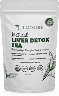 Organic Dandelion Root Tea for Liver Cleanse with Milk Thistle, Burdock Root, Licorice Root, Ginger Root| Liver Detox Supp...
