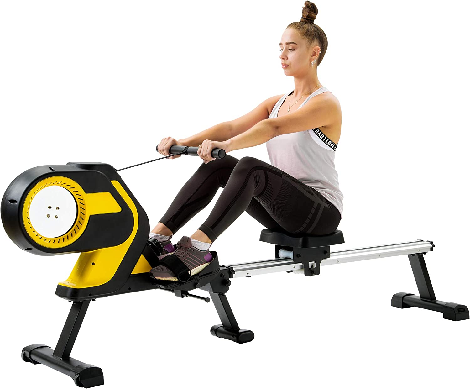 Magnetic Rowing Machine with LCD Monitor, 46