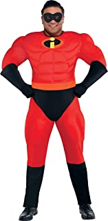 The Incredibles Mr. Incredible Muscle Halloween Costume for Men, Plus Size, with Included Accessories