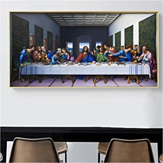 IUYBHRYI The Last Supper By Leonardo Da Vinci Famous Canvas Paintings Posters Prints Wall Art Pictures for Living Room Dec...