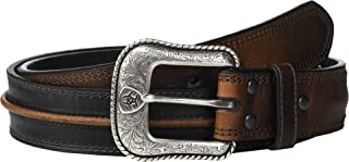 Ariat Men's Two-Tone Center Cord Belt Black/Brown 36