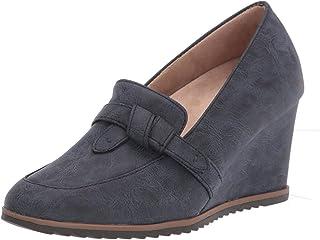 SOUL Naturalizer womens Hila Shoes Loafer, Navy, 9 Wide US