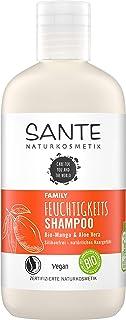 Sante Naturkosmetik 40306 FAMILY Feuchtigkeits Shampoo Bio-Mango & Aloe Vera, Spendet Feuchtigkeit, Glänzendes Haar, Natürliche Haarpflege für trockenes Haar, Vegan, 250ml 250ml,