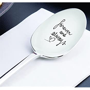 Amazon Com Best Friend Gifts Anniversary Gifts Wedding Gifts Gift For Mom Forever And Always Spoon Long Distance Relationship Gifts Moving Away Gifts Mothers Day Gifts
