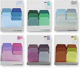 Fyess 6PACK Index Divider Sticky Notes Paper Tabs, 60 Blank Notes per Pack, Assorted Size, 6 Pack