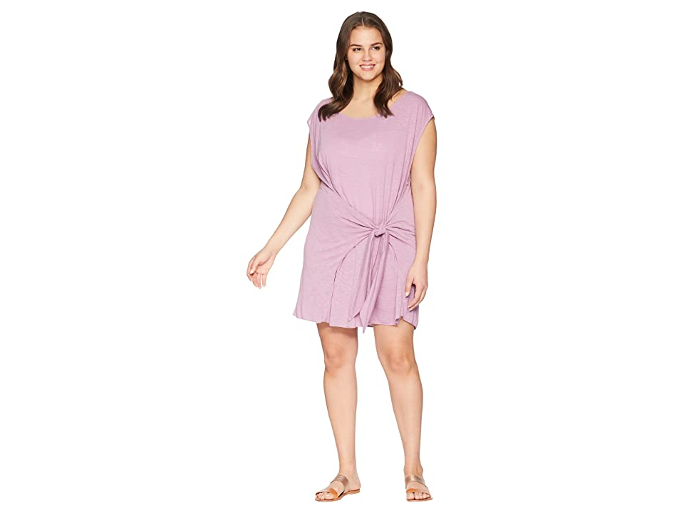 BECCA by Rebecca Virtue Plus Size Breezy Basics Dress Cover-Up (Mauve) Women