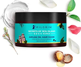 Pilgrim Hair Mask, Spa and Pack (Argan Oil) Treats Damaged, Dry and Frizzy Hair, for Hair Growth and Hair Fall Control, Su...