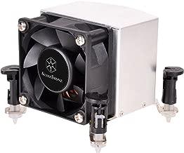 SilverStone Technology AR09-115XP 2U Rackmount Server/Small Form Factor Intel CPU Cooler with Push Pin Design