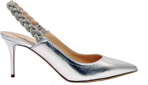 NINALILOU 291231Silber Damen Silber Leder Pumps