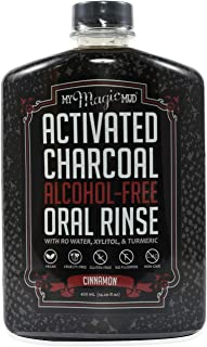 My Magic Mud Natural Oral Rinse 420ml Cinnamon Fights Bad Breath Glycerin Alcohol Free Activated Charcoal Mouthwashes