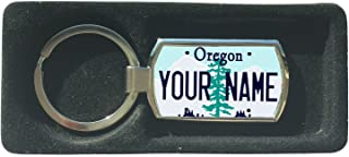 BleuReign(TM) Personalized Custom Name Oregon State License Plate Metal Keychain