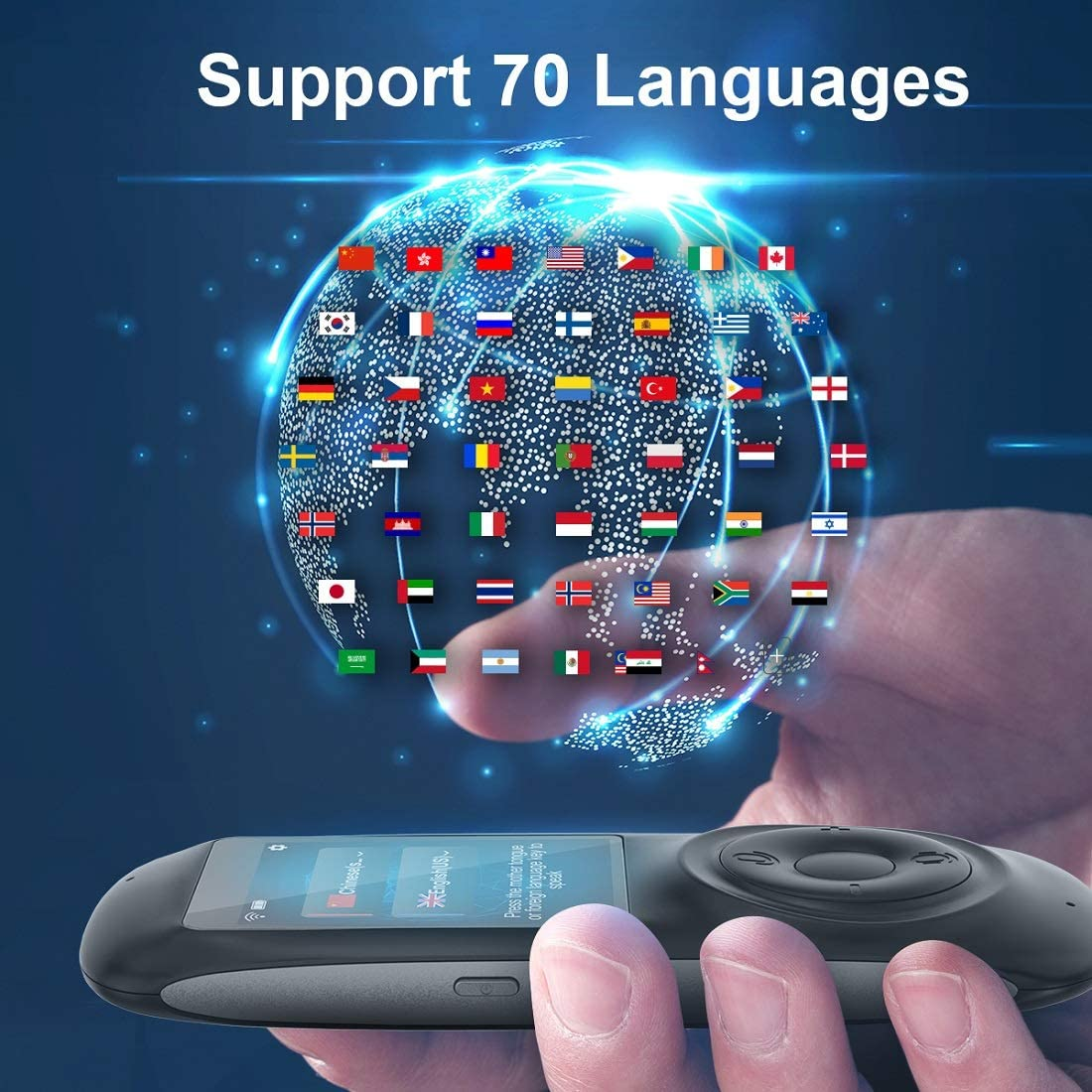 Language Translator Device Translator Device Two Way Instant Voice Translator Support 82 Languageswith Camera Translation for Travelling Abroad Learning Shopping Business Chat Shopping Black