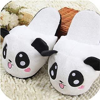 Unknown Pantuflas de Panda de Invierno para Interiores, Unisex, para Parejas, Animales, cálidas, Antideslizantes