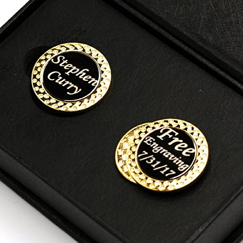 a6cedd4da04 DENVER GIFT Free Engraving - Golf Ball Markers with Magnetic Golf Hat Clip