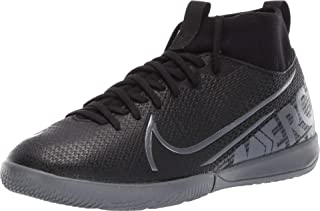 Nike Youth Mercurial Superfly 7 Academy Indoor Soccer Shoes (3.5 Big Kid, Black/Cool Grey)