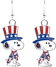Peanuts 4th of July Earrings