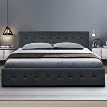 Queen Bed Frame, Artiss Gas Lift Bed Frame Base Fabric, Charcoal