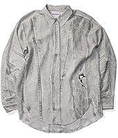 Seamed Denim Print Shirt