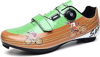 ZDERET Vélo Route VTT Chaussures Anti-Dérapant Semelle Dure Serrure Bouton Rotatif 4 Saisons Hommes Femmes Sport Assisté B...