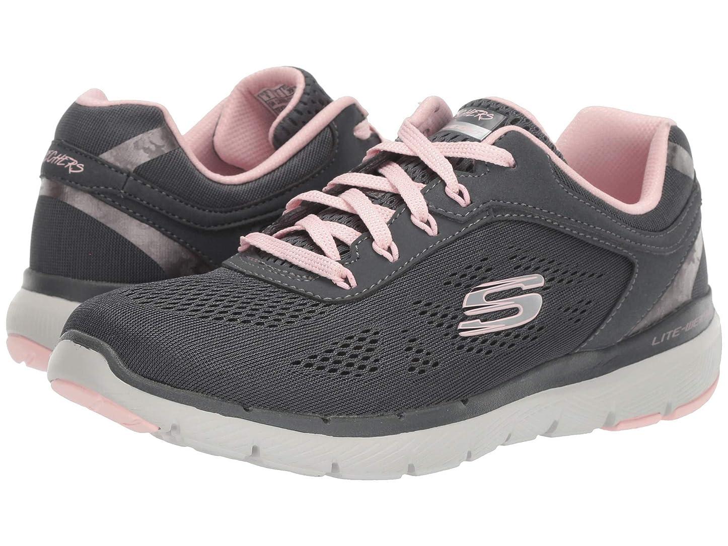 独特のイタリアの悪用レディーススニーカー?ウォーキングシューズ?靴 Flex Appeal 3.0 Charcoal/Pink 9 (26cm) B [並行輸入品]
