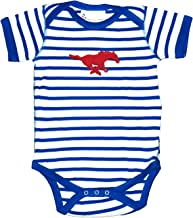 SMU Mustangs Striped NCAA College Newborn Infant Baby Creeper