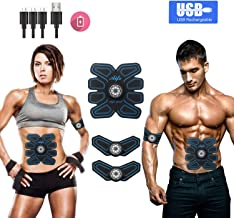 Abs Stimulator Abs Stimulating Belt Muscle Toner Abdominal Toning Men Women Work Out Fitness Training Gear for Abdomen/Arm...