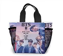 BTS Monster JIN SUGA Jimin V Lunch Bags Insulated Travel Picnic Lunchbox Tote Handbag For Women Teens Girls
