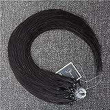 kun na hair 50Cm de calidad superior 100% Remy brasileño natural del pelo Extensión 0,5 G para 18 \ # 1B