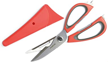Mastrad Multi-Function Kitchen Scissors, Red/Gray