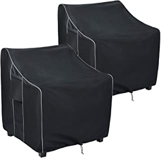 FORSPARK Patio Chair Covers,Waterproof Outdoor Furniture Chair Covers Set of 2, Fits up to 30 x 27 x 36 inches(W x D x H