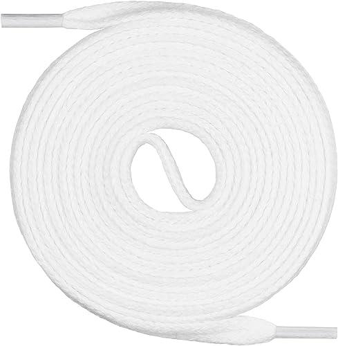 Mount Swiss Lacets plats, qualite premium 100% coton, indéchirable, ø 3 mm -4 mm, Longeur 45-200 cm