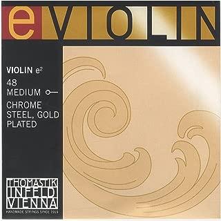Thomastik Gold Plated Violin E String E, Ball Medium 4/4 Size