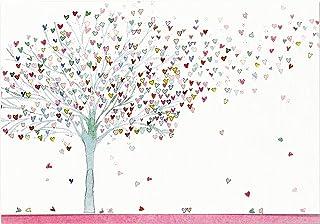کارت های توجه داشته باشید درخت قلب (لوازم التحریر ، کارتهای جعبه)