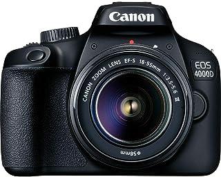 كاميرا رقمية بعدسة أحادية عاكسة تعمل بنظام كهروضوئي 4000D مع عدسات تكبير/ تصغير بدائرة تصوير صغيرة وبُعد بؤري 18 - 55 ملم ...