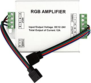 SUPERNIGHT (TM) Data Repeater RGB Signal Amplifier for SMD 3528 5050 LED Strip Light, DC 12V 12A